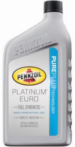 Pennzoil Euro Platinum Synthetic Oil