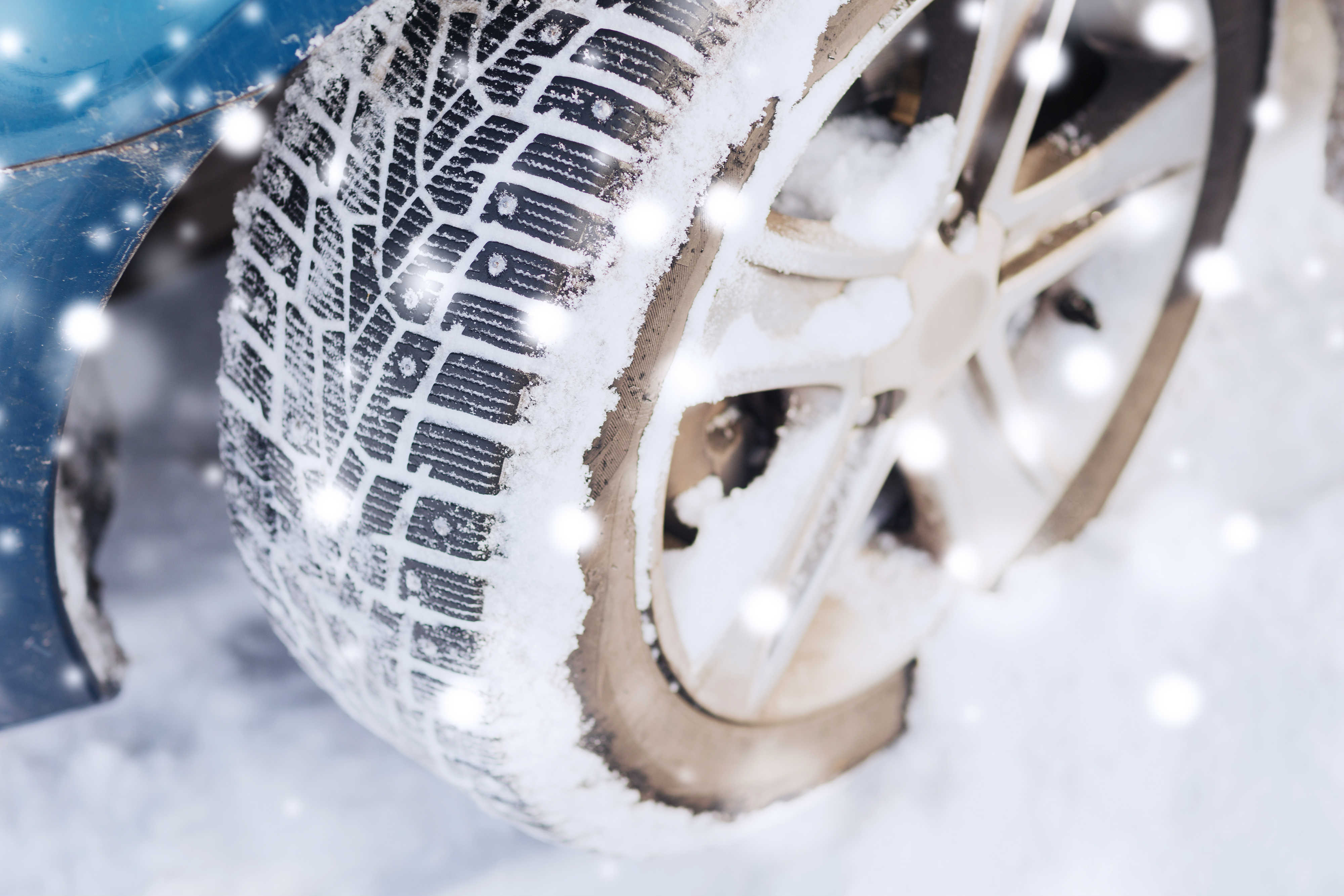 Proper winter tires will help with traction on snow and ice.